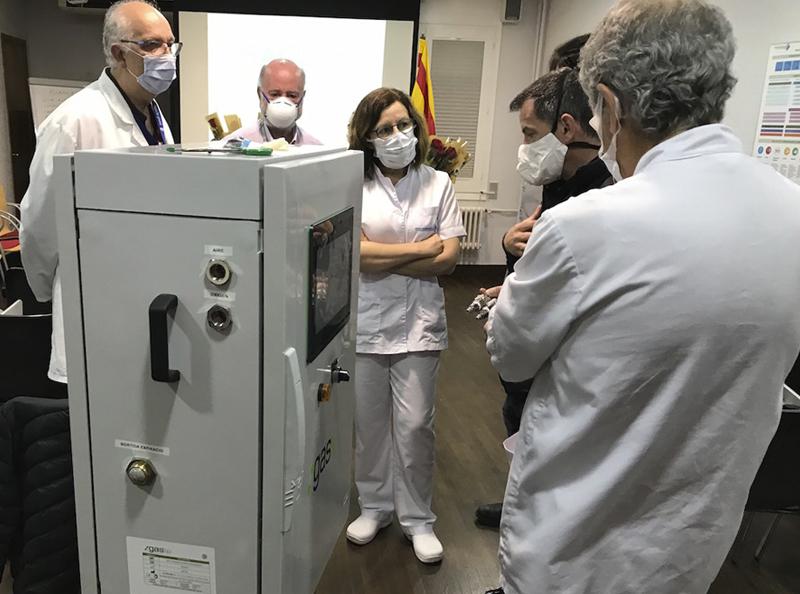 Donació d'un respirador mecànic invasiu a l'Hospital de Campdevànol